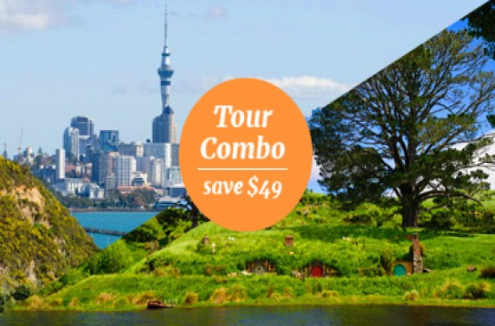 Auckland Morning Sights + Hobbiton Movie Set & Waitomo Caves Combo - Auckland Return