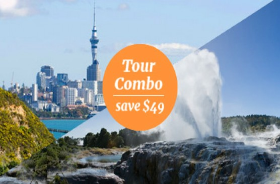 Auckland Afternoon Sights + Waitomo Caves & Rotorua Sights Combo - Auckland Return
