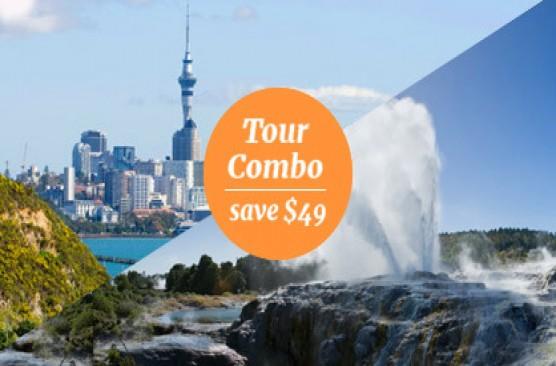 Auckland Afternoon Sights + Waitomo Caves & Rotorua Sights Combo - Auckland Return
